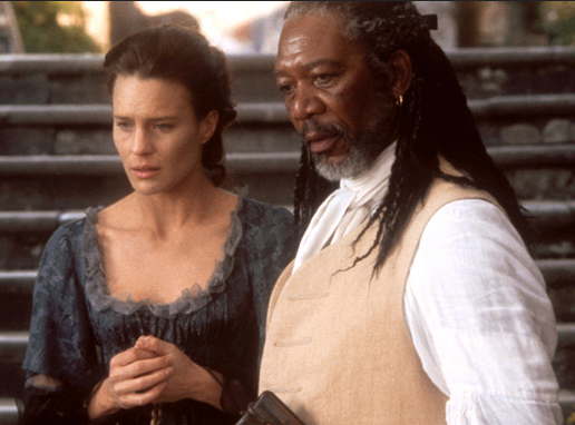 MORGAN FREEMAN AND ROBIN WRIGHT IN MOLL FLANDERS
